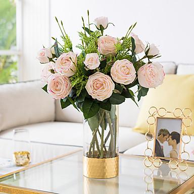 Keinotekoinen Flowers 1 haara Klassinen Häät Pastoraali Tyyli Ruusut Eternal Flowers Pöytäkukka