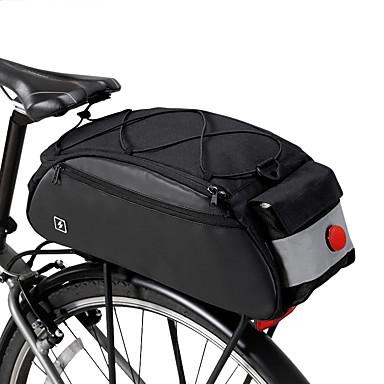 ROSWHEEL 10 L Túratáskák csomagtartóra Nagy kapacitás Vízálló Többfunkciós Kerékpáros táska 600D Ripstop Kerékpáros táska Kerékpáros táska Kerékpározás Szabadtéri gyakorlat