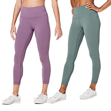 362b6cd231d5 Women's Patchwork Yoga Pants Sports Solid Color Spandex High Rise Tights  Bottoms Running Fitness Gym Workout. cheap Fitness ...