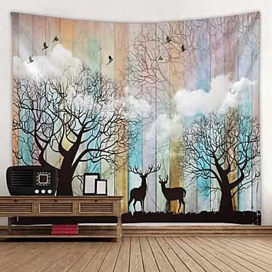 Puutarha-teema / Klassinen teema Wall Decor 100% polyesteri Moderni Wall Art, Seinävaatteet Koriste