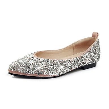 8abc0fb86 baratos Sapatos Femininos-Mulheres Couro Ecológico Primavera Verão Doce    Colegial Rasos Sem Salto Ponta