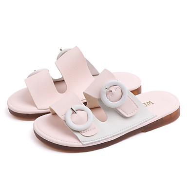 voordelige Babyschoenentjes-Meisjes Lichtzolen PU Slippers & Flip-Flops Peuter (9m-4ys) / Little Kids (4-7ys) Wandelen Zwart / Roze Zomer / Rubber