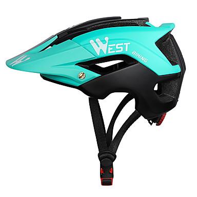 abordables Casques de Cyclisme-WEST BIKING® Adulte Casque de vélo 13 Aération CE Résistant aux impacts Intégralement moulé Réglable EPS PC Des sports Vélo de Route Vélo tout terrain / VTT Activités Extérieures - Vert Bleu Bleu