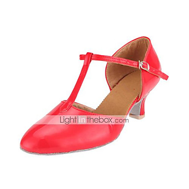 baratos Super Ofertas-Mulheres Sapatos de Dança Couro Envernizado Sapatos de Dança Moderna / Dança de Salão Salto Salto Carretel Não Personalizável Fúcsia / Vermelho / Azul Claro / EU41