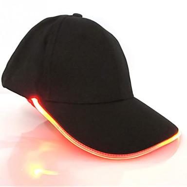 uutuus uusi muotoilu johti valaistus hattu puolue koristelu baseball hip-hop valo korkit säädettävä kangas hattu hehku korkki