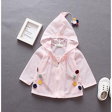 8adb61cd185 Χαμηλού Κόστους Μπουφάν και παλτό για κορίτσια-Νήπιο Κοριτσίστικα Βασικό  Κυρ Λουλούδι Μονόχρωμο / Φλοράλ