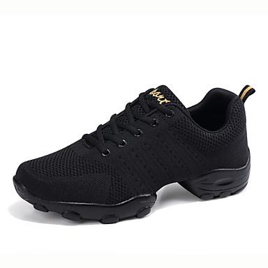 abordables Meilleures Ventes-Homme Chaussures de danse Tricot / Maille Baskets de Danse Basket Talon Plat Personnalisables Blanche / Noir