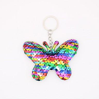 Avaimenperä Butterfly Eläimet Yksinkertainen Eurooppalainen Muotisormukset Korut Fuksia / Vaalean sininen / Ruusukulta Käyttötarkoitus Kausaliteetti Päivittäin