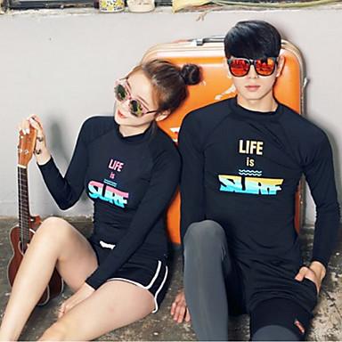 JIAAO Miesten Skin-tyyppinen märkäpuku Sukelluspuvut UV-aurinkosuojaus Tuulenkestävä Pitkähihainen Uinti Sukellus Maalaus Patchwork Syksy Kevät Kesä / Elastinen