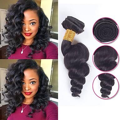 6バンドル ブラジリアンヘア ルーズウェーブ 未処理人毛 人間の髪編む バンドル髪 ワンパックソリューション 8-28 インチ ナチュラルカラー 人間の髪織り シルキー 最高品質 かわいい 人間の髪の拡張機能 女性用