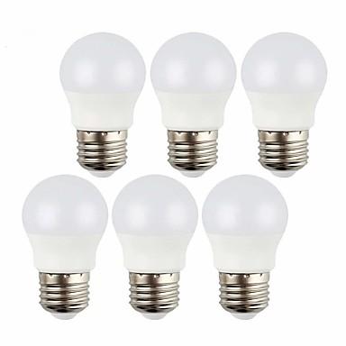 abordables Ampoules électriques-6pcs 3 W Ampoules Globe LED 240 lm E26 / E27 8 Perles LED SMD 2835 Décorative Blanc Chaud Blanc Froid 12 V
