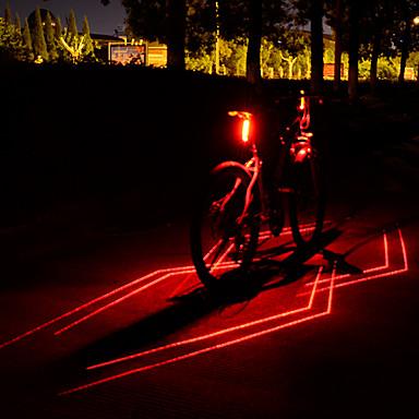 cheap Bike Lights & Reflectors-Laser LED Bike Light Waterproof Rear Bike Tail Light Safety Light Cycling Waterproof Adjustable Quick Release Li-ion 80 lm Built-in Li-Battery Powered Red Cycling / Bike - Leadbike