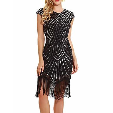 537a15b2cf981 The Great Gatsby 1920s Roaring 20s Costume Women's Dress Golden / Black /  Red / Golden