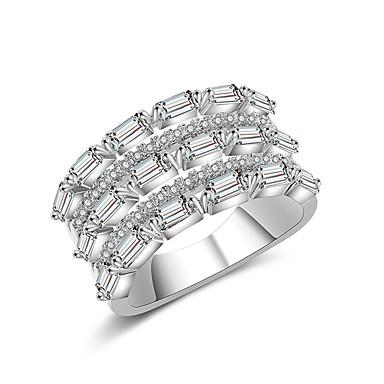 billige Motering-Dame Band Ring Ring Evigheten Ring Kubisk Zirkonium 1pc Sølv Kobber Stilfull Kunstnerisk Fest Engasjement Smykker X-ring Kul
