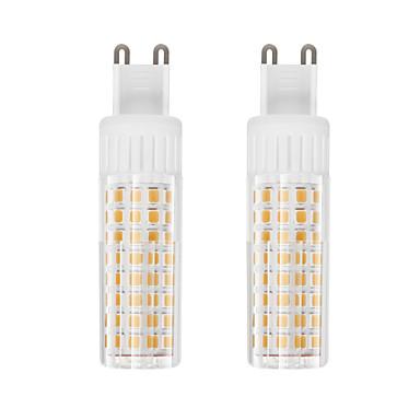billige Elpærer-2pcs 7.5 W LED-kornpærer 937 lm G9 T 100 LED perler SMD 2835 Varm hvit Kjølig hvit 85-265 V