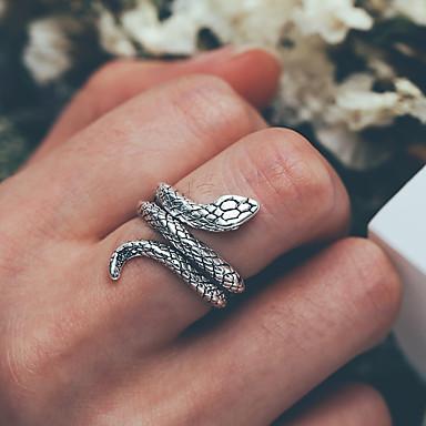 voordelige Herensieraden-Heren Ring 1pc Zilver Legering modieus Modieus Dagelijks Straat Sieraden Retro Slang Cool