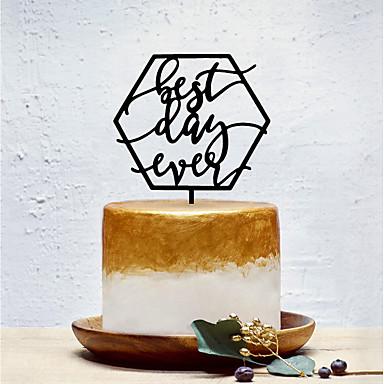 Kakkukoristeet Klassinen teema / Luova / Vaaka Yksilöllinen / Romanttinen Akryyli Syntymäpäivä kanssa Yksivärinen 1 pcs OPP