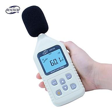 voordelige Test-, meet- & inspectieapparatuur-benetech gm1358 handheld digitale geluidsniveau noise tester 30-130dba 35 ~ 130 dbc volume testen meter lcd-scherm auto power off