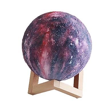 Kolmiulotteinen tulostus tähti painos kuun kevyt kosketus tricolor 20cm