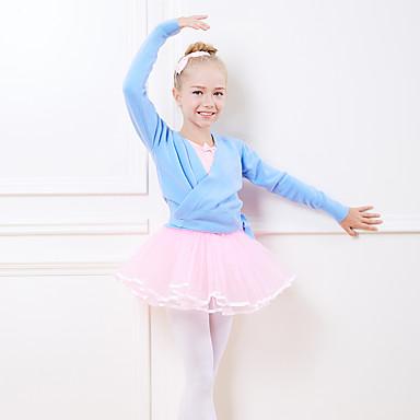 17c3feeb83 Roupas de Dança para Crianças   Balé Blusas Para Meninas Treino    Espetáculo Fibra Acrilica Corda Cingida Manga Longa Natural Blusa