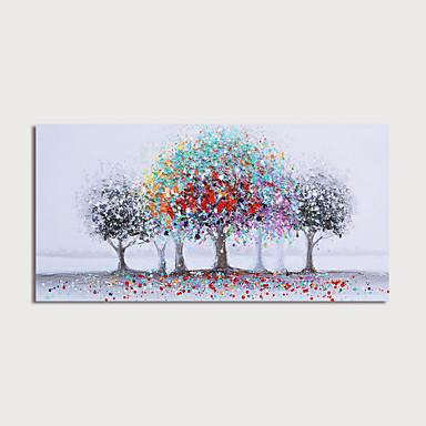 billige Oliemalerier-Hang-Painted Oliemaleri Hånd malede - Abstrakt Landskab Moderne Omfatter indre ramme / Stretched Canvas