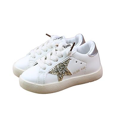 voordelige Babyschoenentjes-Meisjes Comfortabel PU Sneakers Peuter (9m-4ys) / Little Kids (4-7ys) / Big Kids (7jaar +) Wandelen Pailletten Goud / Rood / Groen Lente / Rubber