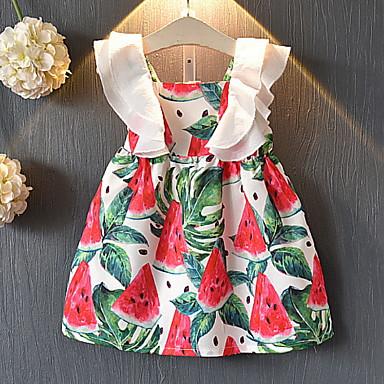 baratos Vestidos para Meninas-Bébé Para Meninas Fruta Vestido Branco