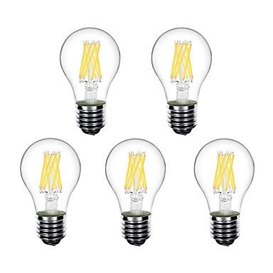 זול נורות תאורה-5pcs 5 W נורות גלוב לד נורת להט לד 550 lm E26 / E27 A60(A19) 8 LED חרוזים לד בכוח גבוה דקורטיבי לבן חם 220-240 V 220 V 230 V / RoHs
