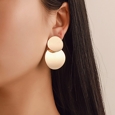 165bb985b Women's Geometrical Stud Earrings Gold Plated Earrings Vintage Fashion Boho  Jewelry Gold / Silver For Gift Daily Club Bar 1 Pair