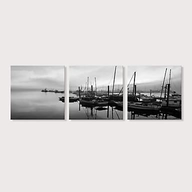 abordables Toiles-Imprimé Impression sur Toile - Paysage Photographie Moderne Trois Panneaux Art Prints