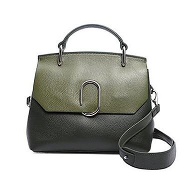 abordables Sacs-sac à main en cuir nappa zippé armée vert / rose / rouge