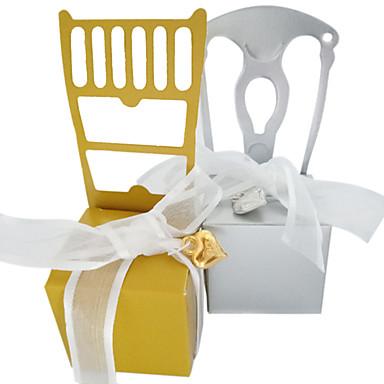 abordables Support de Cadeaux pour Invités-Irrégulier Papier nacre Titulaire de Faveur avec Noeud en satin Articles ménagers divers / Boîtes Cadeaux - 50 pièces