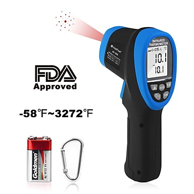 HOLDPEAK 1800 Digital Laser Pyrometer Infrared Thermometer High Temp Gun -583272Non-Contact IR Thermometer