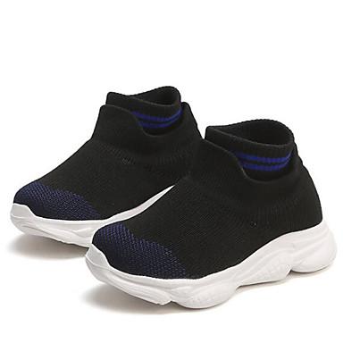 baratos Sapatos de Criança-Para Meninas Tecido elástico Botas Criança (9m-4ys) / Little Kids (4-7 anos) Conforto Vermelho / Azul Outono & inverno / Botas Curtas / Ankle