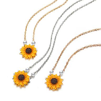 billige Mote Halskjede-Dame Halskjede Chrome Gull Sølv 17.3+7.8 cm Halskjeder Smykker 1pc Til Gave Daglig Arbeid Love Festival