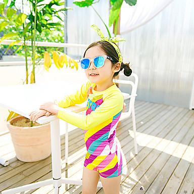 Tyttöjen Skin-tyyppinen märkäpuku Sukelluspuvut Hengittävä Uinti Kesä / Lasten