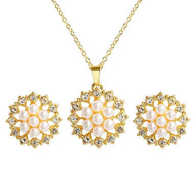 58d35bf9ada4 cheap Jewelry Sets-Women  039 s Jewelry Set Imitation Pearl Sunburst Sweet