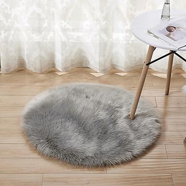 Area mattoja Vapaa-aika Raion / polyesteri, Pyöreät Huippulaatua Matto