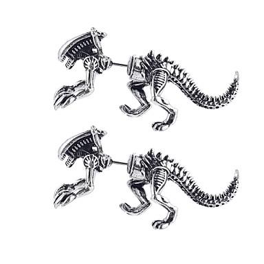 voordelige Dames Sieraden-Dames Oorknopjes 3D Draken Dinosaurus Uniek ontwerp modieus oorbellen Sieraden Zwart / Goud / Zilver Voor Carnaval Club 1 paar