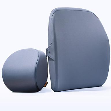 voordelige Auto-interieur accessoires-xiaomi roidmi auto hoofdsteun & heupkussen kits lichtblauw / grijs polyester stof business