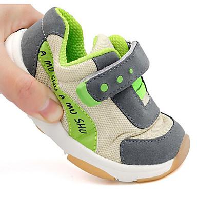baratos Para Crianças de 0-9 Meses-Para Meninas Couro Ecológico Tênis Crianças (0-9m) / Criança (9m-4ys) Conforto / Primeiros Passos Caminhada Laranja / Vermelho / Verde Outono