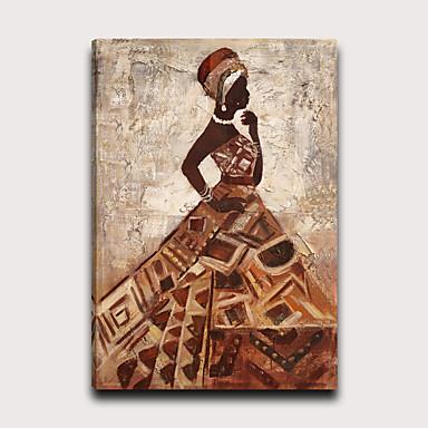 Painettu Pingoitetut kanvasprintit - Ihmiset Moderni Moderni Art Prints