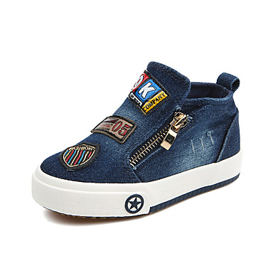 baratos Sapatos de Criança-Para Meninos / Para Meninas Jeans Tênis Criança (9m-4ys) / Little Kids (4-7 anos) / Big Kids (7 anos +) Conforto Azul Escuro / Vinho / Azul Claro Primavera / Verão / Borracha