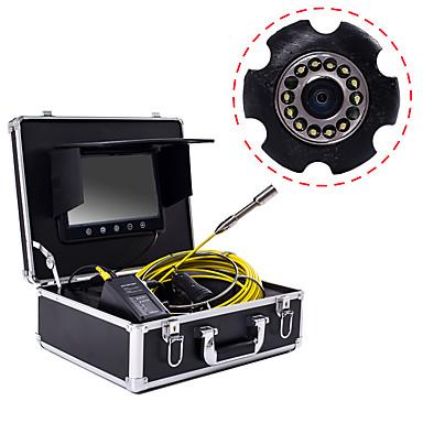 voordelige Microscopen & Endoscopen-23 mm industriële lens endoscoop 30 m werklengte 9 inch display reparatie reparatie pijpleiding reparatie