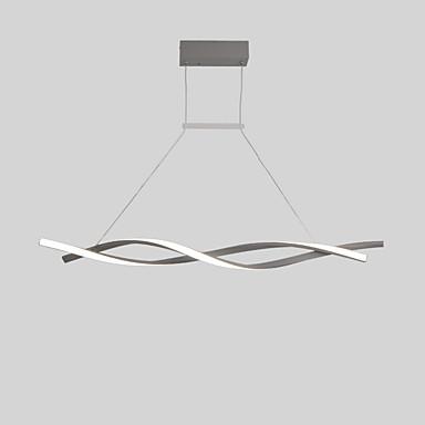 2-Light Linear Lusteri Ambient Light Slikano završi Aluminij Kreativan, Prilagodljiv 110-120V / 220-240V Meleg fehér / Hladno bijela / Zatamnjen daljinskim upravljačem