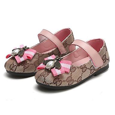 voordelige Babyschoenentjes-Meisjes Comfortabel Canvas Platte schoenen Peuter (9m-4ys) / Little Kids (4-7ys) Bruin / Roze Zomer