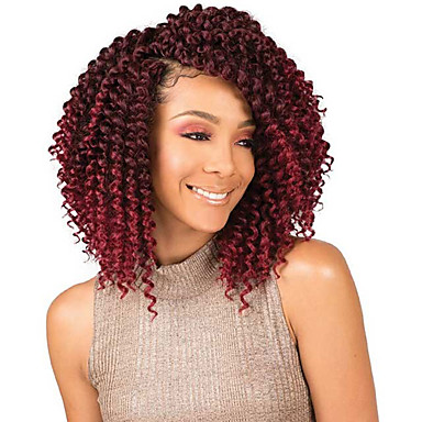 Braiding Hair Curly Extension / Twist Braids / Afro Kinky Braids Synthetic Hair 3 Pieces Hair Braids Light Brown / Natural Color 8 inch Synthetic / Best Quality / Crochet Braids Christmas Gifts