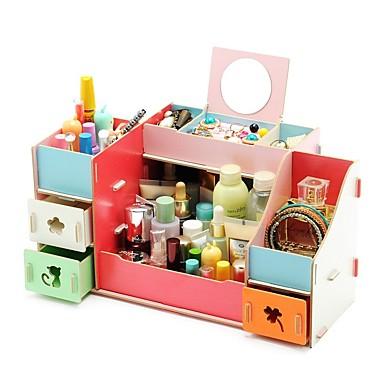 varastointi organisaatio Kosmeettinen meikki järjestäjä Muovi Suorakulmion muoto Kolmikerroksinen