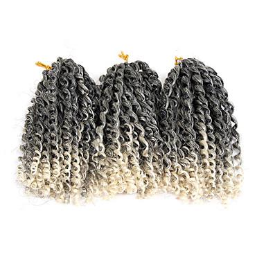 שיער קלוע מתולתל הארכה צמות טוויסט אפר קינקי צם שיער סינטטי 3pack שיער צמות חום בהיר צבע טבעי 8 אינץ' סינטטי איכות מעולה צמות הסרוגה עם שיער האדם Christmas Gifts Halloween לבוש ליום צמות אפריקאיות