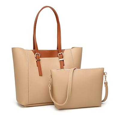 c286b11108 Women's Bag Set Bag Sets PU(Polyurethane) Solid Color 2 Pieces Purse Set  Black / Yellow